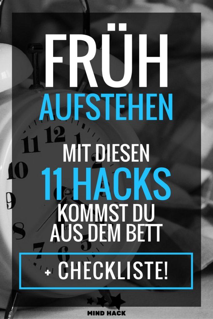 Frühaufstehen Frühaufsteher werden - Mit diesen 11 Hacks kommst du aus dem Bett + Checkliste
