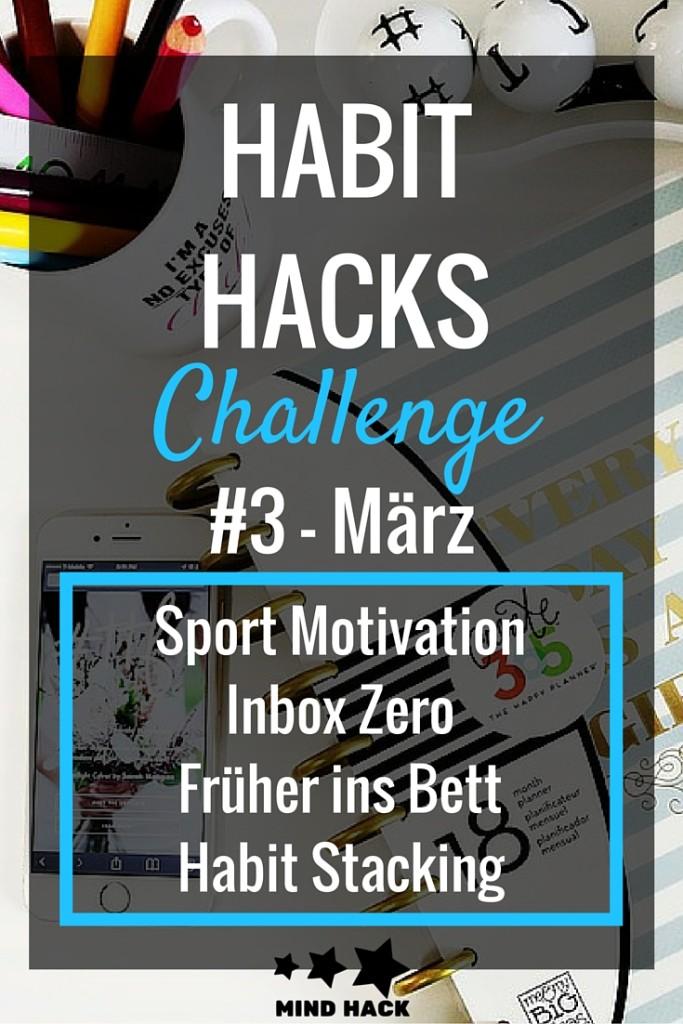HABIT HACKS Sport Schlafen Inbox Zero Stacking