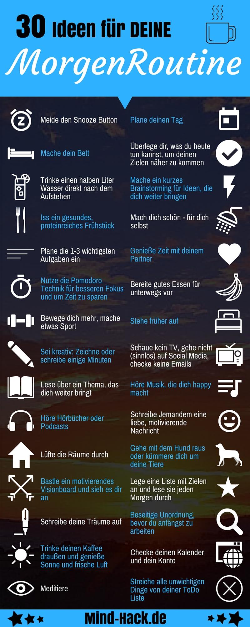 21 Ideen für deine Morgenroutine   Der perfekte Start in den Tag ...