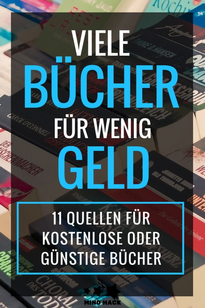 Viele Bücher für wenig Geld - 11 Quellen für kostenlose oder günstige Bücher